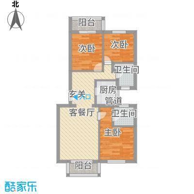 上林雅苑75.00㎡上林雅苑2室户型2室