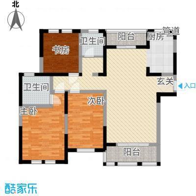 盛世新城129.55㎡一期一号楼A户型3室2厅2卫