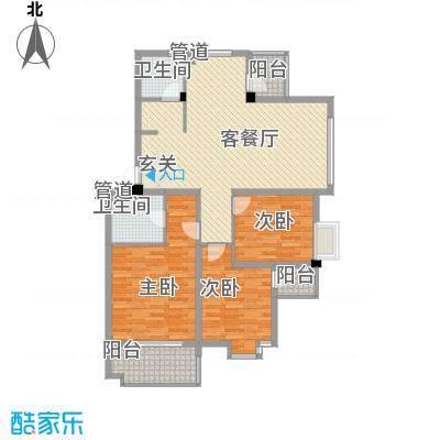 岸上玫瑰116.00㎡岸上玫瑰户型图K型3室2厅2卫户型3室2厅2卫