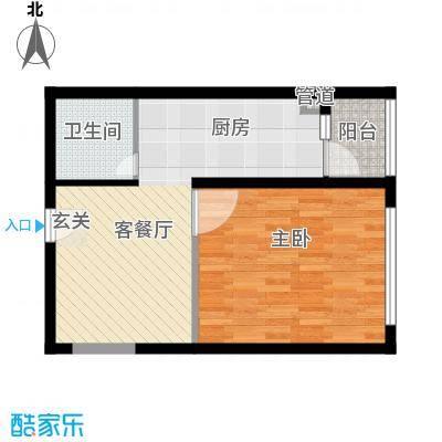 书香国际公寓63.33㎡书香国际公寓户型图C-3B1室1厅1卫户型1室1厅1卫