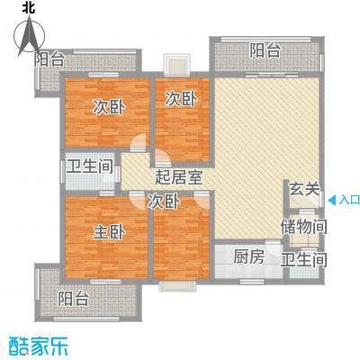 华都锦城一期180.00㎡华都锦城一期户型图4室2厅1卫1厨户型10室