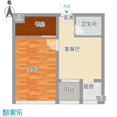 书香国际公寓66.42㎡书香国际公寓户型图B41室1厅1卫户型1室1厅1卫