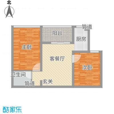 书香国际公寓89.85㎡书香国际公寓户型图B32室2厅1卫户型2室2厅1卫