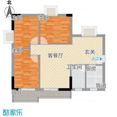 穗云苑89.00㎡穗云苑3室户型3室