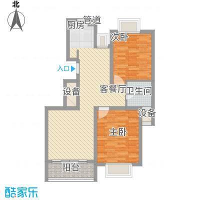 沁春园89.00㎡H户型二室二厅一卫户型2室2厅1卫