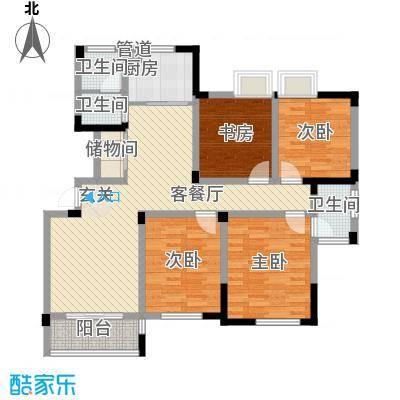 水映盛唐136.30㎡水映盛唐户型图G户型4室2厅2卫户型4室2厅2卫