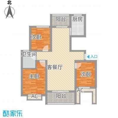 水墨兰庭102.00㎡水墨兰庭3室户型3室