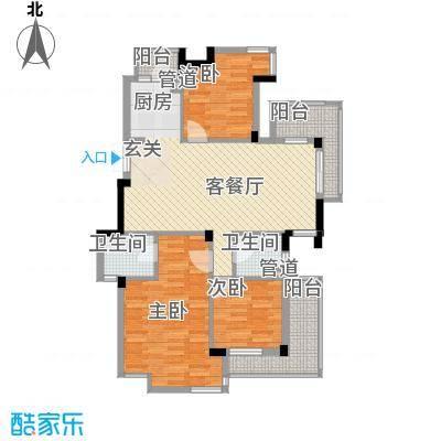 东鼎世纪119.30㎡东鼎世纪户型图户型偶数层E1a3室2厅2卫户型3室2厅2卫