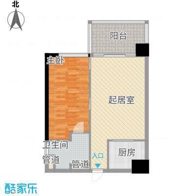 锦绣香江布查特国际公寓1室2厅户型1室2厅1卫1厨