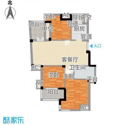 东鼎世纪107.40㎡东鼎世纪户型图户型偶数层D1a3室2厅2卫户型3室2厅2卫