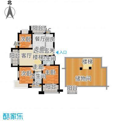 栖霞瑜憬湾129.00㎡栖霞瑜憬湾户型图A底层3室2厅2卫户型3室2厅2卫