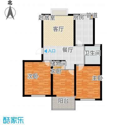鸿山锦苑123.16㎡鸿山锦苑户型图B2室2厅1卫1厨户型2室2厅1卫1厨