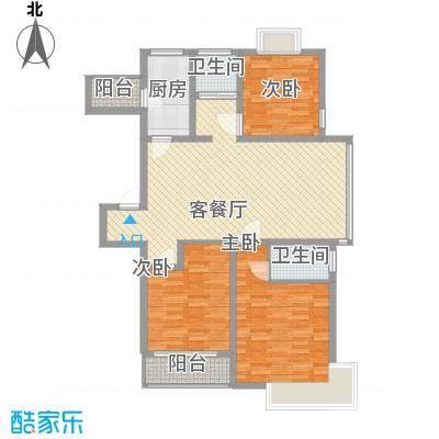 天诚金白领公寓132.00㎡A(1期、2号楼)户型3室2厅2卫