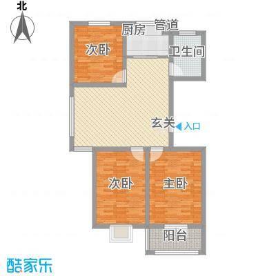 五米阳光58.00㎡1室户型1室1厅1卫1厨