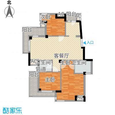 东鼎世纪119.30㎡东鼎世纪户型图户型偶数层E1b3室2厅2卫户型3室2厅2卫