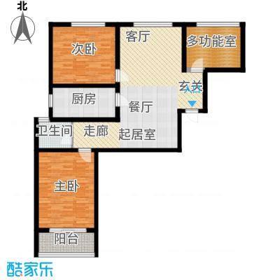 华夏太阳城二期106.00㎡华夏太阳城二期户型图G户型3室2厅1卫户型3室2厅1卫