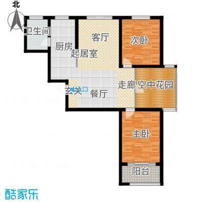 华夏太阳城二期115.00㎡华夏太阳城二期户型图H户型3室2厅1卫户型3室2厅1卫