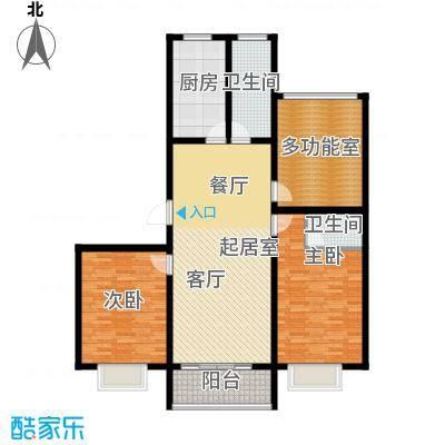 华夏太阳城二期123.00㎡华夏太阳城二期户型图F户型3室2厅2卫户型3室2厅2卫