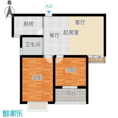 华夏太阳城二期84.00㎡华夏太阳城二期户型图I户型2室2厅1卫户型2室2厅1卫