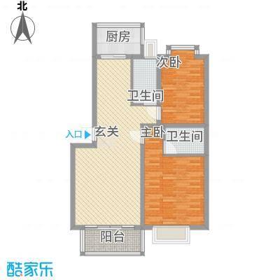 华厦清水湾104.00㎡B-104户型10室