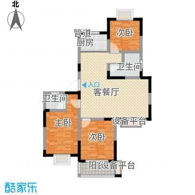 盛世翡翠132.00㎡2期3号楼G2户型3室2厅2卫