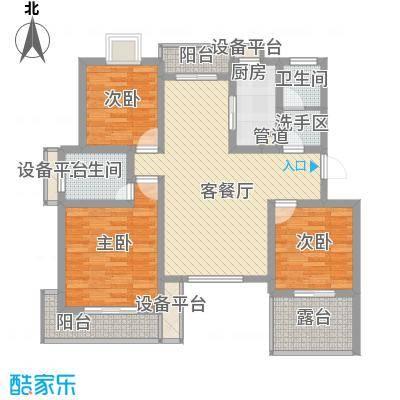 盛世翡翠126.00㎡1期洋房8、9、10、11号楼Y-3户型3室2厅2卫