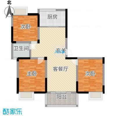 香槟花园125.00㎡香槟花园户型图户型F3室2厅1卫1厨户型3室2厅1卫1厨