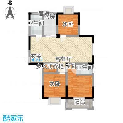 盛世翡翠113.00㎡三期2#18层FS-6户型3室2厅2卫1厨