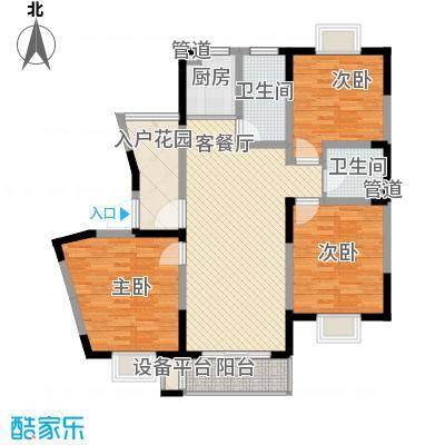 盛世翡翠135.00㎡三期2#18层FS-8户型3室2厅2卫1厨