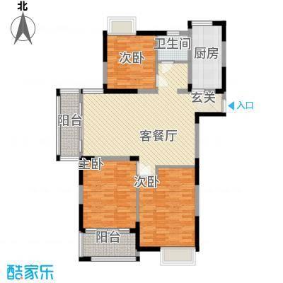 香槟花园133.00㎡香槟花园户型图户型E3室2厅1卫1厨户型3室2厅1卫1厨