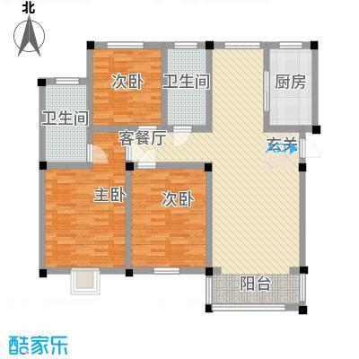 祥育苑134.14㎡N4户型4室2厅2卫