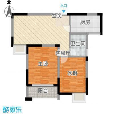 香槟花园90.00㎡香槟花园户型图户型C2室1厅1卫1厨户型2室1厅1卫1厨