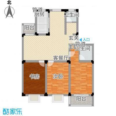 鸿运苑128.00㎡鸿运苑3室户型3室