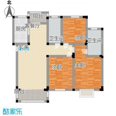 祥育苑134.14㎡M户型3室2厅2卫