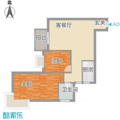 留芳声巷68.00㎡留芳声巷户型图2室户型图2室1厅1卫1厨户型2室1厅1卫1厨