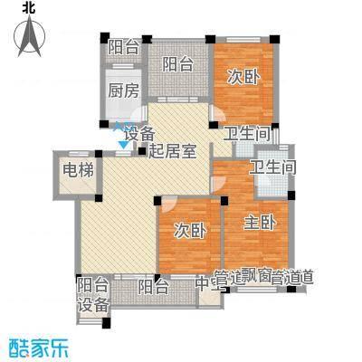 长江国际二期臻园128.00㎡长江国际二期臻园户型图E5户型图3室2厅2卫1厨户型3室2厅2卫1厨