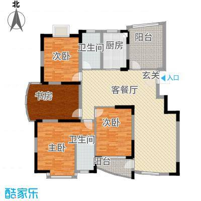 春江花园三期户型图3期多层洋房A区 E2户型  5室2厅2卫