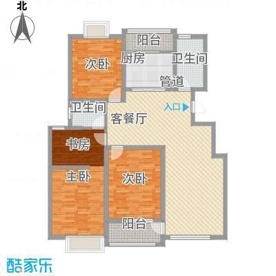 春江花园三期户型图3期多层洋房A区 D1户型  4室2厅2卫