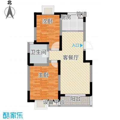 盛世翡翠90.00㎡1期4-6号楼XG-2户型2室2厅1卫