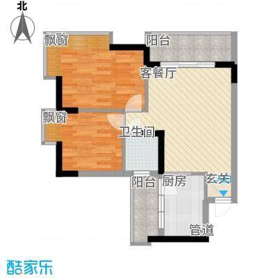 新怡苑71.00㎡2室2厅户型2室2厅1卫1厨