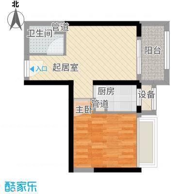 瑞和山水居53.83㎡瑞和山水居户型图F户型1室1厅1卫1厨户型1室1厅1卫1厨