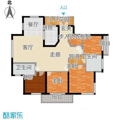 龙泽半岛逸湾184.62㎡1-3号楼A户型4室2厅2卫
