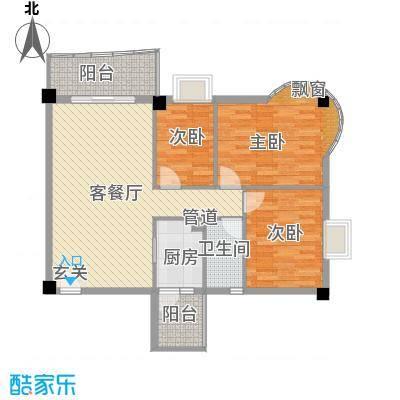 番禺海关宿舍3室2厅户型3室2厅2卫1厨