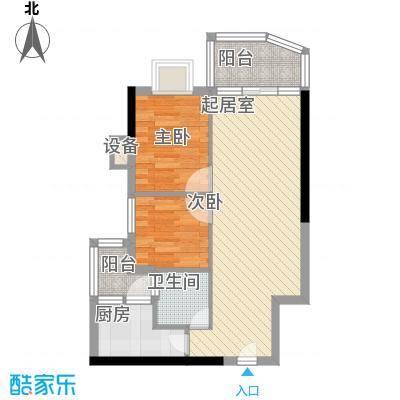 浪琴居2室2厅户型2室2厅1卫1厨