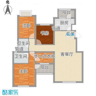 融科玖玖城142.41㎡融科玖玖城户型图D43室2厅2卫户型3室2厅2卫