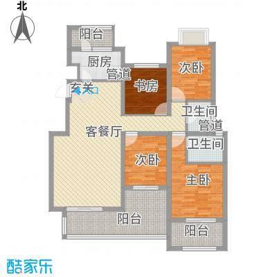 融科玖玖城143.84㎡融科玖玖城户型图C54室2厅2卫户型4室2厅2卫