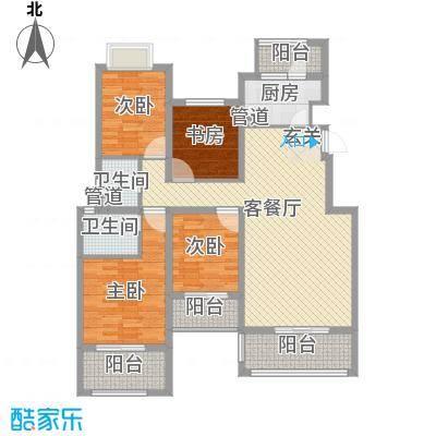 融科玖玖城144.41㎡融科玖玖城户型图C44室2厅2卫户型4室2厅2卫