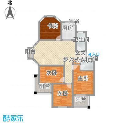东城风景户型图D户型 4室2厅2卫1厨