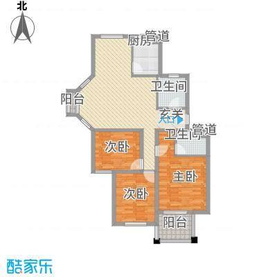 东城风景户型图F户型 3室2厅2卫1厨