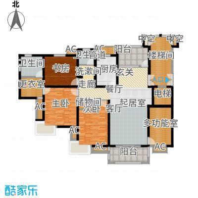 兰亭园 2室 户型图